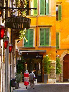 Wine Shop, Verona, Italy    photo via eatsleepsnap