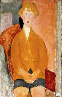 Boy in Short Pants by AMADEO MODIGLIANI  c. 1918. Oil on canvas. 99,69 x 64,77 cm. Dallas Museum of Art, Dallas. 1977.1.