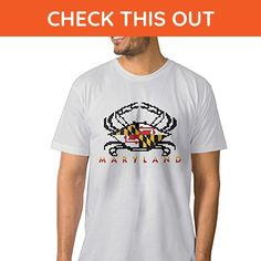 Men's Maryland FLAG Crab Fashion Tee Shirt - Animal shirts (*Amazon Partner-Link)