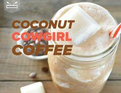 Coconut Cowgirl Coffee Recipe Beverages with coconut oil, coffee, vanilla extract, cocoa powder, coconut milk