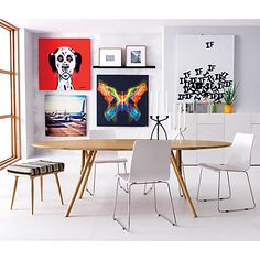 echo white chair in dining chairs, barstools | CB2 $90