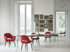 Knoll Florence Knoll Dining Table and Executive Chair http://decdesignecasa.blogspot.it