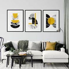 Set of 3 Mustard Art Prints Mustard Wall Art Yellow Wall   Etsy Living Room Prints, Bedroom Prints, Living Room Bedroom, Living Room Decor, Yellow Wall Art, Yellow Walls, Mustard Walls, Mustard Yellow, Mustard Living Rooms