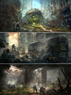 Apocalypse World, Post Apocalypse, Roadside Picnic, Post Apocalyptic Art, I Robert, Scary Art, Sci Fi Art, Daydream, Concept Art