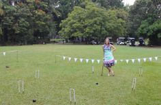 Darlene enjoying a little croquet at a wedding garden party Poverty In India, Garden Party Wedding, Travel Around, Aprons, Travelling, Journey, Board, Projects, Log Projects