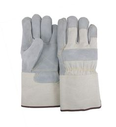 Majestic 1801DP Cowhide Leather Work Gloves Double Palm Kevlar Sewn Gauntlet