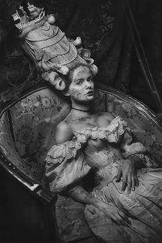 "The Look: Marie Antoinette - ""Madness"" featuring Liliana Skrzypiec. Photography and styling by Katarzyna Widmanska. Hair by Oskar Bachoń, makeup by Monika Halat"