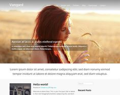 Vangard: a free WordPress theme with big image slider and responsive layout