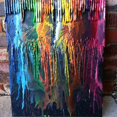 Crayons melted