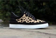 Animal Print Filling Pieces Sneakers