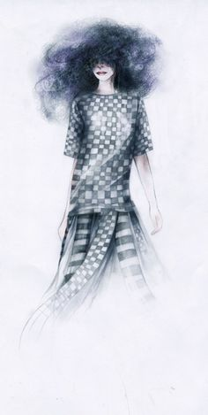 Marc Jacobs SS13 illustration via Foivi Spyridonos