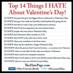 anti valentine's day music playlist