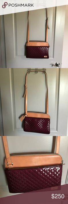 Consuela Crossbody Excellent condition! Only used a handful of times! Such a gorgeous color for fall and winter! It's a beautiful maroon color! Pictures of the same bag, just a different color seen in last two pictures! Dimensions and other details on there too! Consuela Bags Crossbody Bags