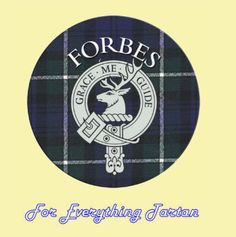 For Everything Genealogy - Clan Forbes Clan Crest Tartan Cork Round Coasters Set of 2, $12.00 (http://foreverythinggenealogy.mybigcommerce.com/clan-forbes-clan-crest-tartan-cork-round-coasters-set-of-2/)