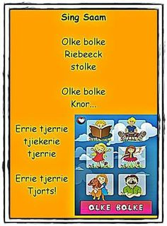 Baby Learning, Preschool Learning, Teaching, Rhymes Songs, Kids Songs, Animals Name In English, Nursery Rymes, Afrikaans Language, Afrikaans Quotes