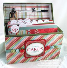greeting card organization box {how-to}