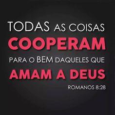 Todas as coisas cooperam para o bem daqueles que amam a Deus.