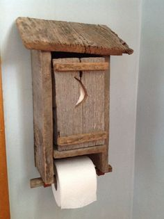 Outhouse Toilet Paper Dispenser toilet paper by KentuckyReclaimed