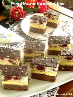 » Prajitura FantasticaCulorile din Farfurie Food Cakes, Tiramisu, Delicious Desserts, Cake Recipes, Cheesecake, Sweets, Ethnic Recipes, Bun Bun, Brownies