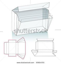 Box template c020s die cutting image packaging design pinterest business card holder and die cut pattern reheart Images