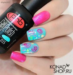 Abstract nail art Beautiful nails Pink and blue nails Summer nails to the sea Trendy colorful nails Two color nails Two-colored bright nails Unusual nails EasyNailArtWithTape Bright Summer Nails, Bright Nails, Pink Nails, Colorful Nails, Nail Art Design Gallery, Best Nail Art Designs, Two Color Nails, Nail Colors, Trendy Nail Art