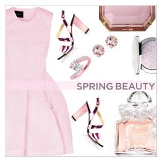 """""""Spring beauty"""" by simona-altobelli ❤ liked on Polyvore featuring Guerlain, Simone Rocha, Kim Kwang, Charlotte Olympia, Allurez, Belk & Co., MyStyle, polyvorecontest and springscent"""