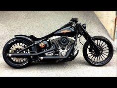 Harley-Davidson FXSB Black Custom 1 #harleydavidsonbreakoutblack #harleydavidsoncustommotorcyclesdreams