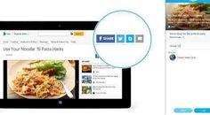سكايب تطلق مفتاح المشاركة لمواقع الويب