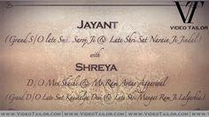 Royal Whatsapp Wedding Invitation Video From Family VTSD020