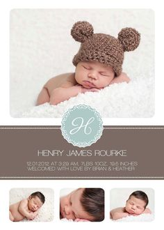 Once ordered, this custom card is emailed to you in a high resolution JPEG format. Your card can then be printed wherever you choose. Newborn Pictures, Baby Pictures, Baby Photos, Newborn Announcement, Birth Announcements, Baby Baker, Newborn Posing, Before Baby, Baby Design