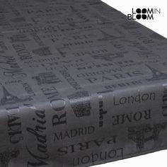 Mantel londres antracita - Colección Cities by Loom In Bloom - 964