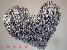 NYE Backdrop Idea: Mylar Heart