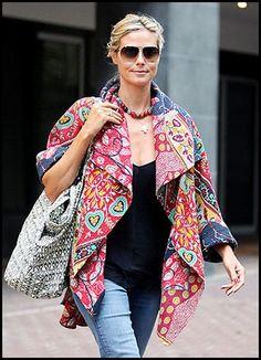 Heidi Klum Beautiful Batik World Wear Lotus Resort Wear's Suggest Resort Fashion Look from the Web!