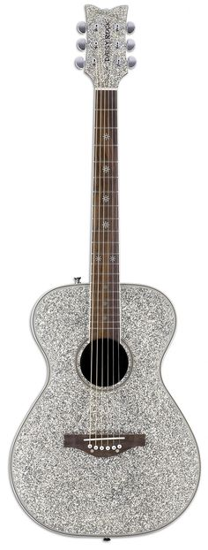 Acoustic silver sparkle guitar
