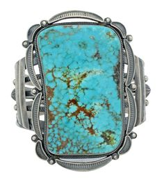 Aaron Toadlena, Bracelet, Turquoise Mountain, Sterling Silver, Navajo Made, 6.25 #PerryNullTradingCompany