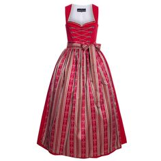 Long Dirndl Leni in red from Berwin and Wolff: Amazon.de: Clothing