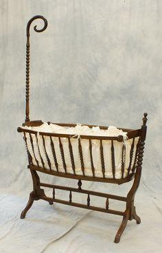victorian swinging bassinet Antique