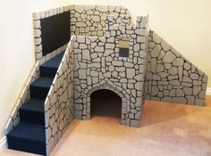 Custom Children's Wooden Castle - Play Gym - Wooden Castle - Play Fort on Etsy, $995.00