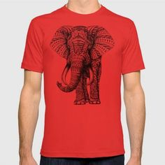 (Unisex Ornate Elephant T-Shirt) #And#Animals#BlackWhite#Bristol#Decorated#Elephant#Graphite#Illustration#Ink#On#Ornately#Paper#Pattern#Pen#Some#Vellum#With is available on Funny T-shirts Clothing Store   http://ift.tt/2avXG0o