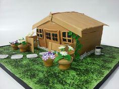 Garden shed cake Sport Cakes, Garden Cakes, House Cake, Novelty Cakes, Outdoor Furniture Sets, Outdoor Decor, Celebration Cakes, Birthday Cakes, Cake Ideas