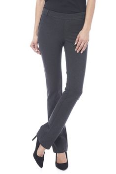 """Charcoal trouser pants are the comfiest dress pants with stretch material and pull on feature. These pants have back slit pockets, belt loops, and a 32.5"""" inseam.   Charcoal Trouser Pant by I Love Tyler Madison. Clothing - Bottoms - Pants & Leggings - Straight Michigan"""