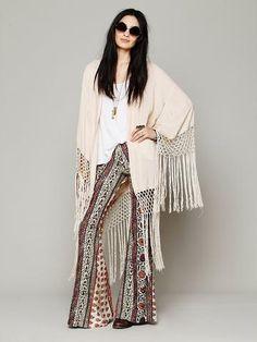 Free People Stag Amulet Kimono