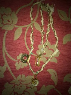 Steampunk shabby chic necklace