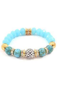 Turquoise Bead Bracelet ♥
