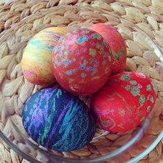More melted crayon eggs... These are our friend Kara's.