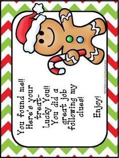 Gingerbread Man School Hunt by Katie Mense Preschool Projects, Preschool Class, Preschool Christmas, Preschool Themes, Gingerbread Man Activities, Christmas Activities, School Holidays, School Fun, School Stuff