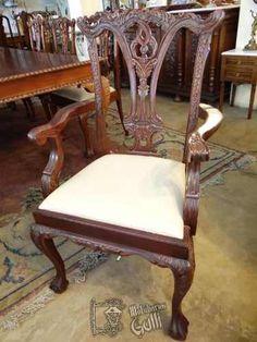 Mobiliarios Galli Comedor Ingles, Mesa, Sillas Y Cristalero $12,756.86 USD Argentina Muebles Antiguos