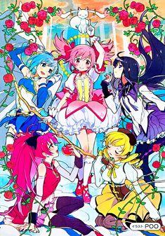 Shaft (Studio), Puella Magi Madoka Magica, Madoka Kaname, Kyoko Sakura, Homura Akemi