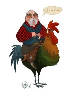 I saw this the other day; and now whenever I read diabetes, I see Wilford Brimley riding a rooster.