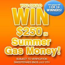 Kellogg's™ Snackpicks™ Summer Gas Money Online Sweepstakes